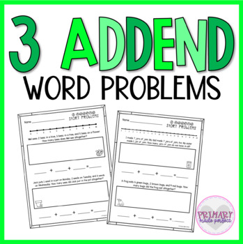 3 Addend Story Problems Within 20