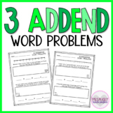 3 Addend Word Problems Within 20   1st Grade Word Problems