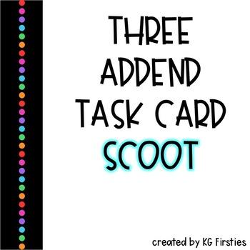 3 Addend Task Card Scoot