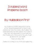 3 Addend Word Problem Scoot