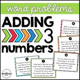 3 Addend Word Problem Task Cards