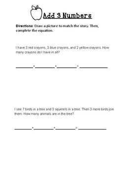 3 Addend Word Problems