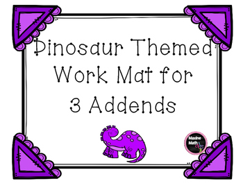 3-Addend Work Mat
