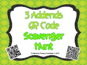 3 Addends QR Code Scavenger Hunt