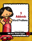 3 Addends Word Problems
