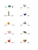 #3 Alphabet Write Beginning and Ending Consonants Pictures Kindergarten
