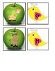 3 Apple theme matching Literacy Stations