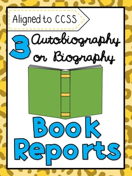 3 Autobiography & Biography Book Report Projects