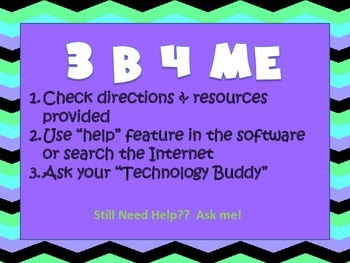 3 B 4 ME - Independent Computer Work Reminder Poster