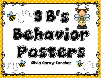 3 B's Behavior Expectation Posters