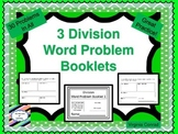 Basic Division Word Problem Booklets---10 problems in each booklet