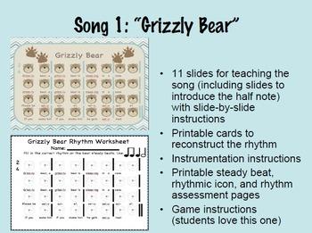 """3 """"Bear-y"""" Musical Songs"""