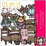 3 Bears clip art - Melonheadz Illustrating