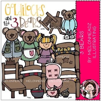 Melonheadz: 3 Bears clip art