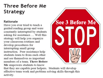 3 Before Me - Cooperative Group Strategy