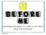 3 Before Me Strategies for Helping When Students are Confused