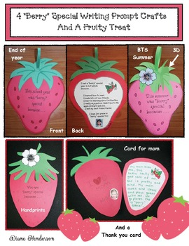 "4 ""Berry"" Special Writing Prompt Craftivities Plus A Fruity Treat"