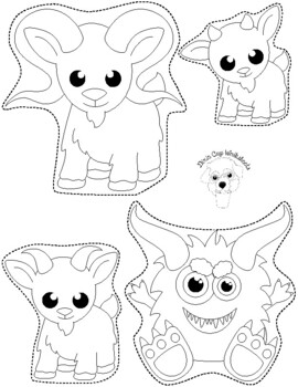 image about Three Billy Goats Gruff Story Printable called The 3 Billy Goats Gruff Puppets Worksheets Coaching