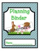 Woodland forest animal data , planning and rti binder covers