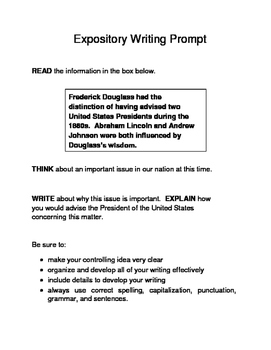 3 Black History Month (Male) Expository Writing Prompts STAAR Set A 6th 7th