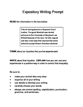 3 Black History Month (Male) Expository Writing Prompts STAAR Set B 3rd 4th 5th