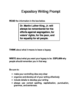 3 Black History Month (Male) Expository Writing Prompts STAAR Set B 6th 7th