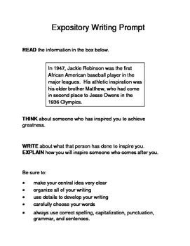 3 Black History Month (Male) Expository Writing Prompts STAAR Set C 3rd 4th 5th
