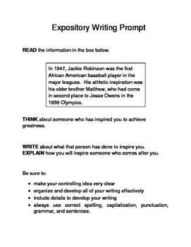 3 Black History Month (Male) Expository Writing Prompts STAAR Set C 6th 7th