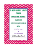 3 Black History Month Female Expository Writing Prompts Set A STAAR 3rd 4th 5th