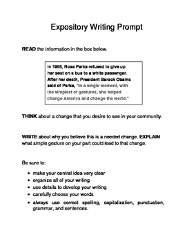 3 Black History Month Female Expository Writing Prompts Set B STAAR 3rd 4th 5th