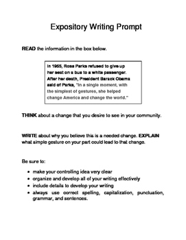 3 Black History Month Female Expository Writing Prompts Set B STAAR 6th 7th