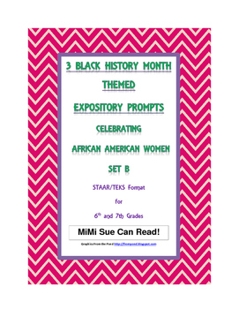 3 Black History Month Female Expository Writing Prompts Se