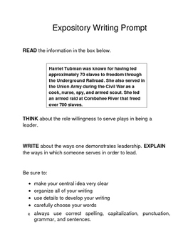 3 Black History Month Female Expository Writing Prompts Set C STAAR 3rd 4th 5th