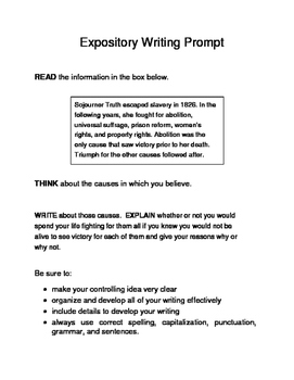 3 Black History Month Female Expository Writing Prompts Set C STAAR 6th and 7th