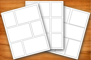 3 Blank Comic Pages