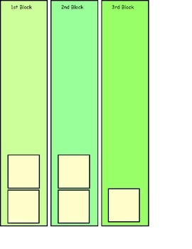 3 Block Strips for Visual Schedule