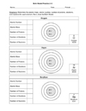 Bohr Model Practice - Orbitals Displayed -3 Worksheets - 4