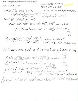 3 Bonus 5 zeros write simplest polynomial function complex number i radical