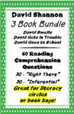 3 Book Bundle - David Shannon - Reading Comprehension Questions
