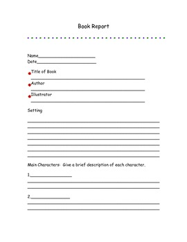 3 Book Report Templates (General, Main Character, And Informational Animal)