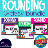 3 Deck Boom Card Bundle: Rounding to the nearest 10 or 100