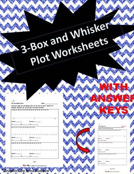 Box and Whisker Plot Worksheets (Three Worksheets)