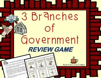 3 Branches of Governement Review Game