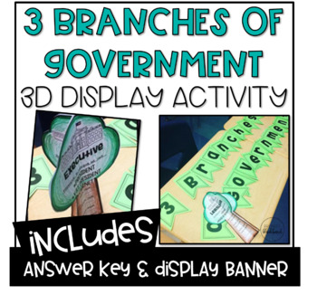 3 Branches of Government 3D Display Tree