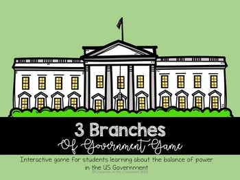 3 Branches of Government Checks and Balances Game