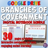 3 Branches of Government Digital Notebook Bundle