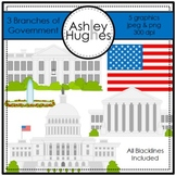 3 Branches of Government Clipart {A Hughes Design}