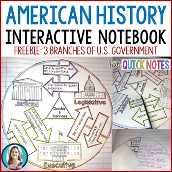 3 Branches of Government Interactive Notebook Activity FREE