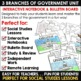 #TGIFRIDAY50 3 Branches of Government Activities DIGITAL & PRINTABLE