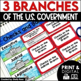 3 Branches of Government Activities DIGITAL & PRINTABLE